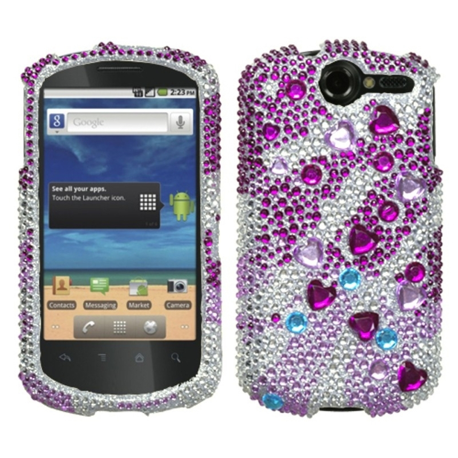Insten Star Cluster Diamante Phone Case for HUAWEI: U8800 (Impulse 4G)