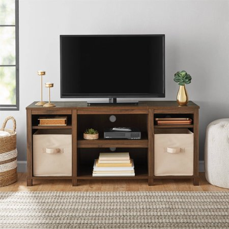 "Mainstays Parsons Cubby TV Stand, for TVs up to 50"", Multiple Finishes Corner Tv Cabinet White"