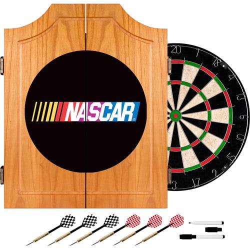 Nascar Beveled Wood Dart Cabinet Set by TRADEMARK GAMES INC