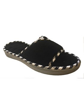 2a0922488b9e Product Image Dearfoams Women s Memory Foam Terry Slide Sandals (Small US  Women