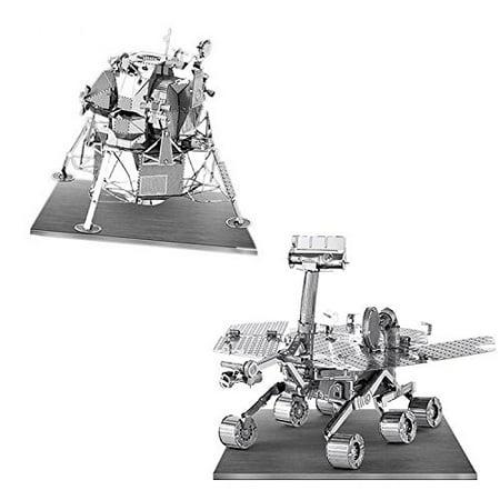 Metal Earth 3D Laser Models Spacecraft Set of 2 - Mars Rover, Apollo Lunar Module - image 1 of 1