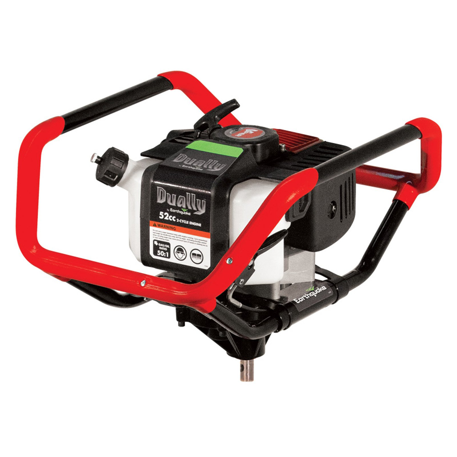 Earthquake Dually 1- or 2-Person 52cc Gas Earth Auger Powerhead, Red