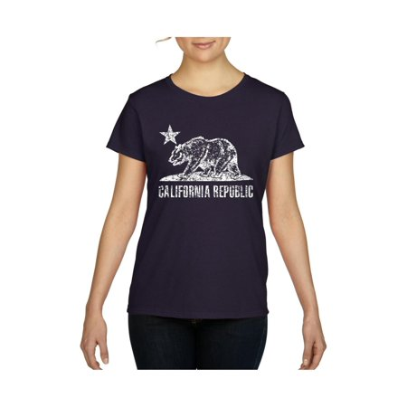 - California Republic Vintage White Bear Cali Women's Short Sleeve T-Shirt