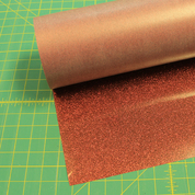 "Bronze Siser Glitter 20"" x 3' (feet) Iron on Heat Transfer Vinyl Roll HTV"