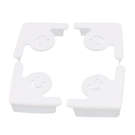 Face Recessed Edge - 4 Pcs Happy Face Babyproof Soft Table Corner Guard Edge Protector Cushion