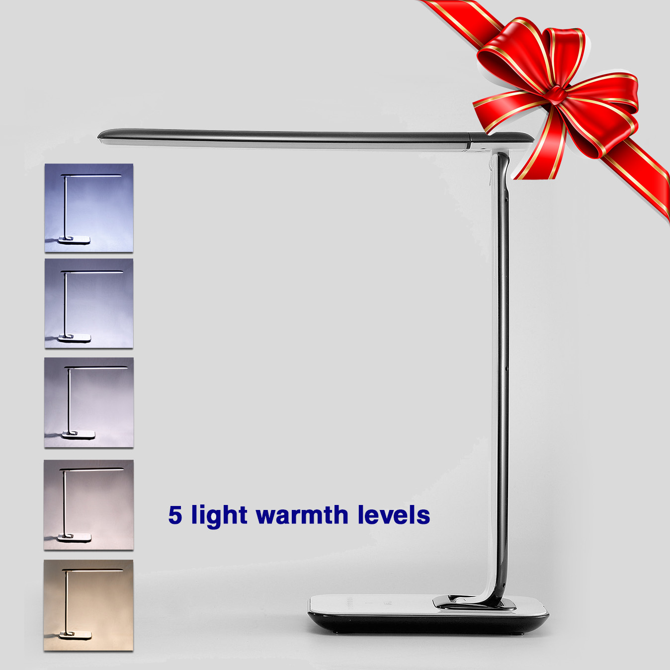Adjustable Touch Luxury 72 LED Desk Lamp Reading Light Dimmer Cool Warm Flex USB