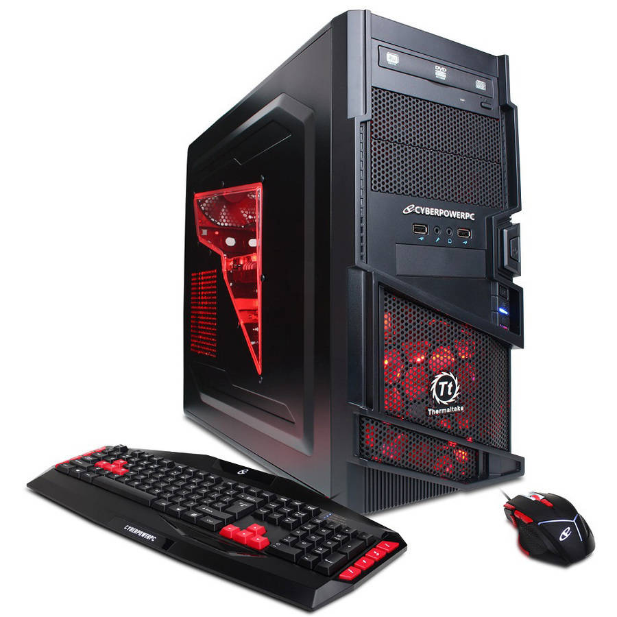 CyberpowerPC Black Gamer Ultra GUA250 Desktop PC with AMD Quad-Core FX-4300 Processor, 8GB Memory, 1TB Hard Drive and Windows 10 Home (64-bit)(Monitor Not Included)