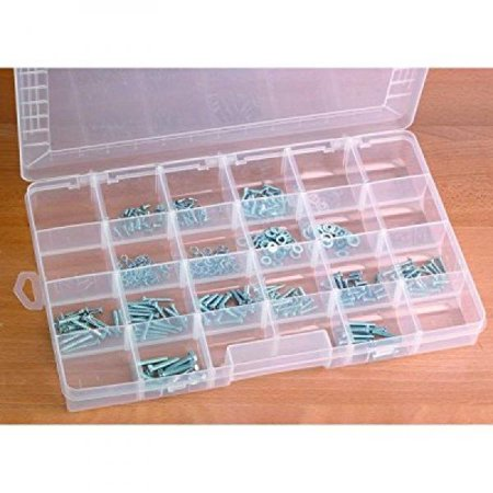 24 Compartment Storage container organizer nuts bolts jewelry coins washers ()