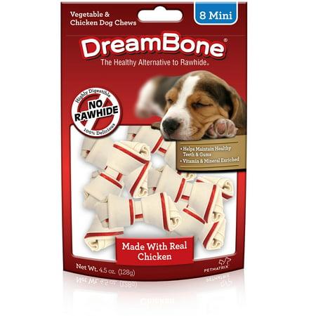 Dreambone Vegetable   Chicken Mini Dog Chews  8Ct