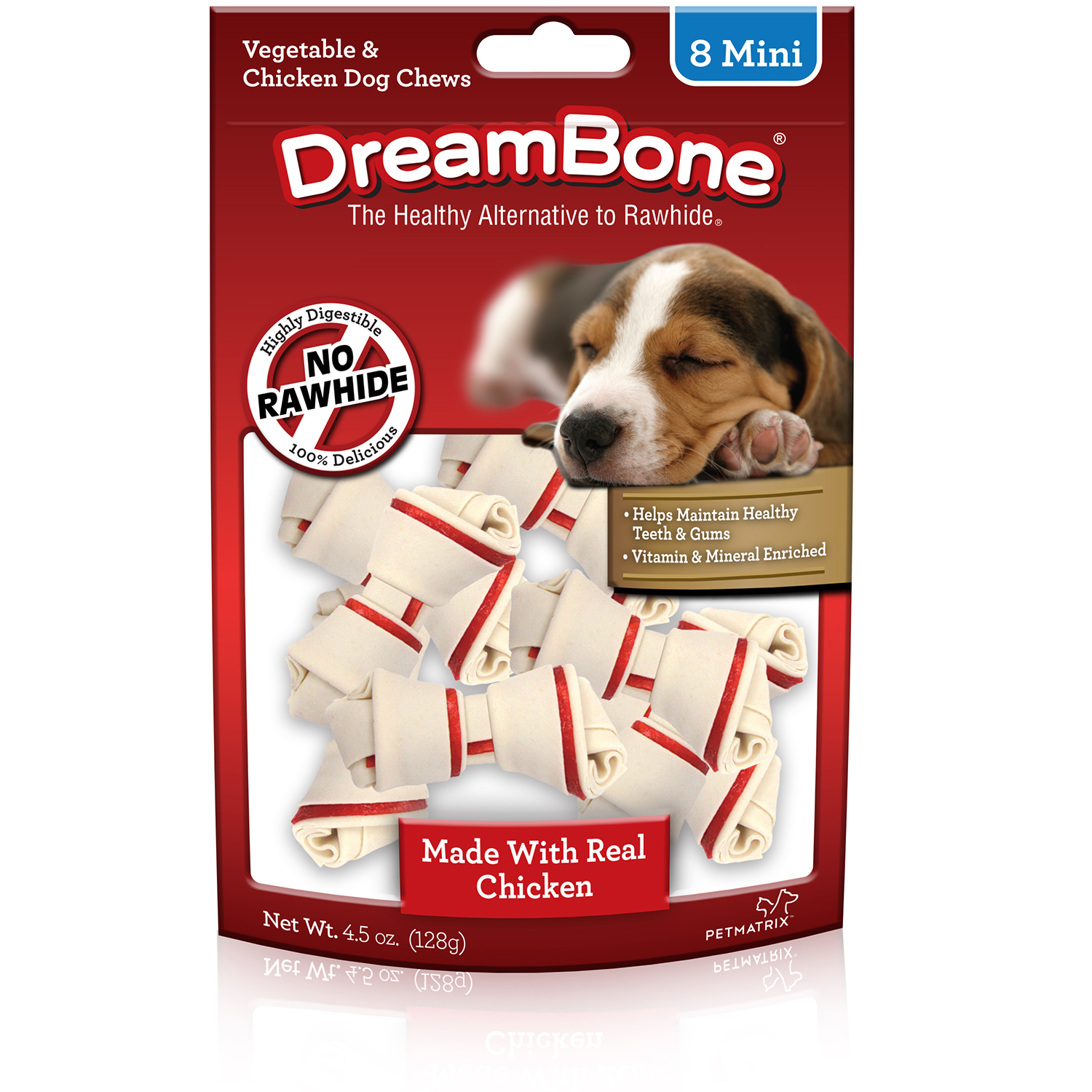 DREAMBONE Veggie and Chicken Mini Bones, 8 count