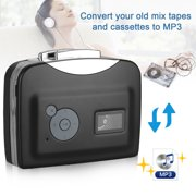 TSV Cassette Player, Portable Walkman Cassette Tape Player Convert Tape to MP3 via USB with 3.5mm Earphones - Compatible with Laptops and PC