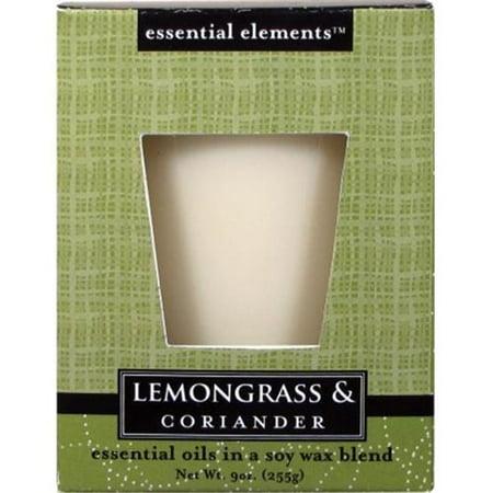 Candle Lite 1540350 Scented Candle, Lemongrass & Coriander, 9-oz. Jar