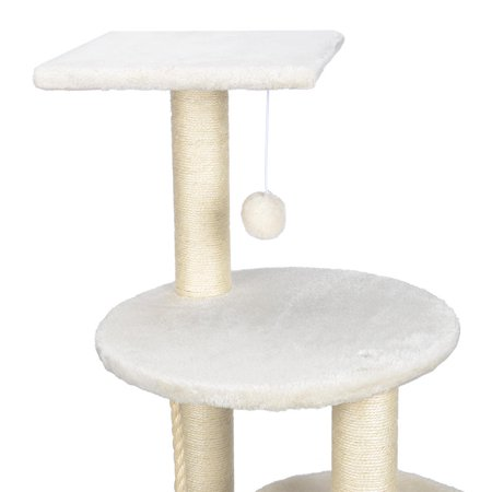 """44"""" Cat Tree with Sisal-Covered Scratching Posts, Multi Level Activity Center Kitty Condo Furniture (White) - image 2 of 8"""