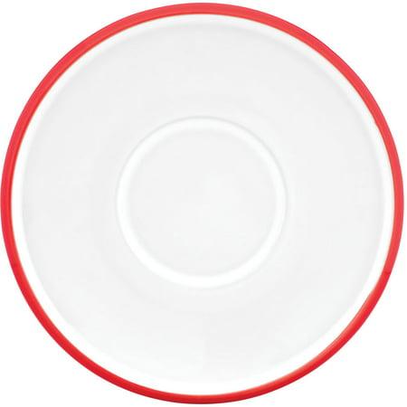 Dansk Kobenstyle Chili Red Stoneware Demitasse Saucer, Set of 4