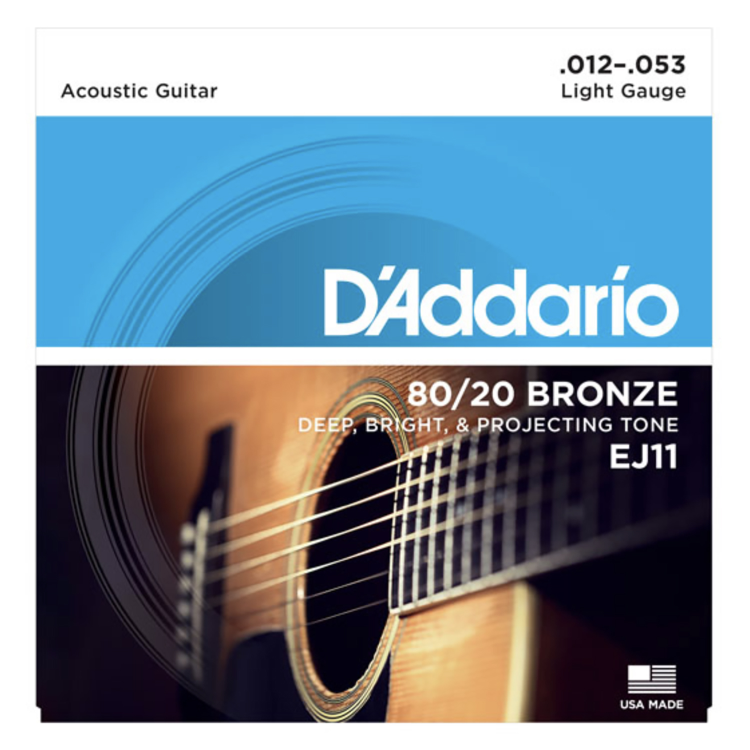 String, D'Add 80 20 Brz Lite Acoustic by D'Addario & Company, Inc.