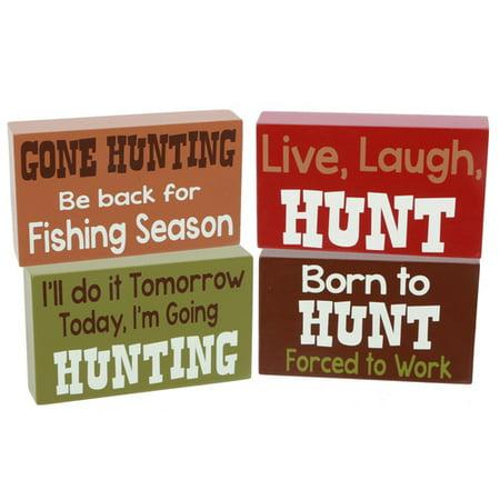 DEI Hunting Sayings Box Sign (Set of 4) thumbnail