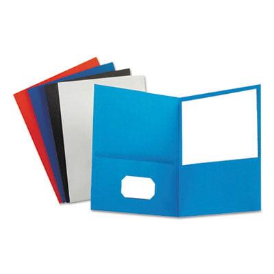 Leatherette Two Pocket Portfolio, 8 1/2