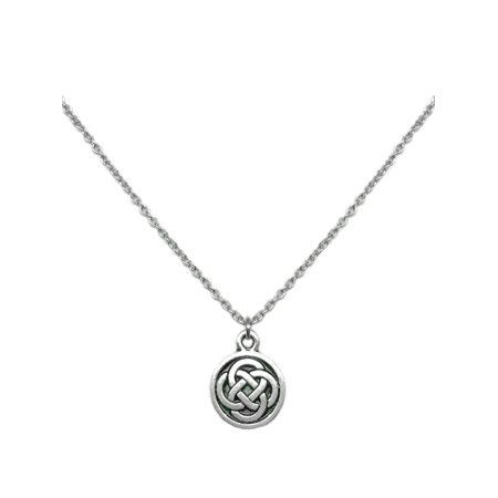 Small Irish Celtic Knot Circle Pendant Necklace Symbol Jewelry Love 18 Inch