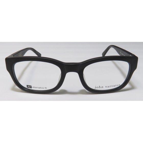 1d3a99fda0 New John Varvatos V337af Mens Womens Designer Full-Rim Matte Black Gorgeous  Demo Lens Sleek Frame Demo Lenses 50-20-145 Spring Hinges Eyeglasses Eye  Glasses ...