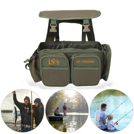 WALFRONT Fishing Seat Box Backpack Converter Roving Fishing Stalking Carrier Bag , Fishing Seat Box Backpack,Fishing