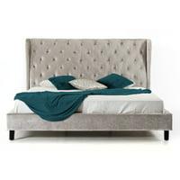 Vig Furniture Modrest Sheba Wingback Platform Bed