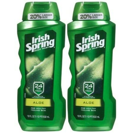 Spring Ale - Irish Spring Body Wash, Aloe, 18oz, 2pk
