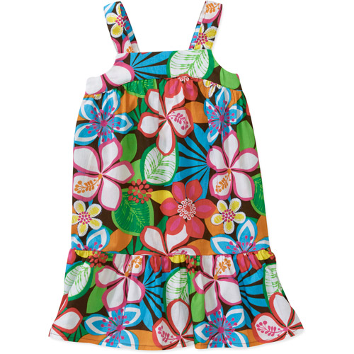 Healthtex Baby Girls' Woven Strappy Patterned Dress