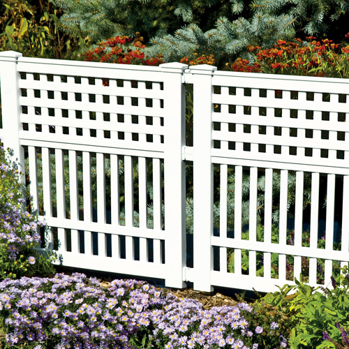 Suncast Grand View Fence, White