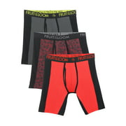 Fruit of the Loom Men's Breathable with Ultra Flex Long Leg Boxer Briefs, 3 Pack