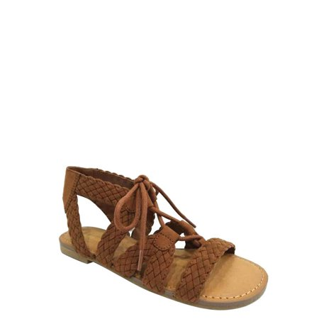Wonder Nation Girls' Braided Ghillie Sandal - Girls Size 13 Sandals