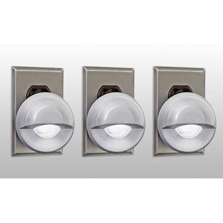LED Concepts 3-Pack of Night Sensor Swivel Head LED Lights