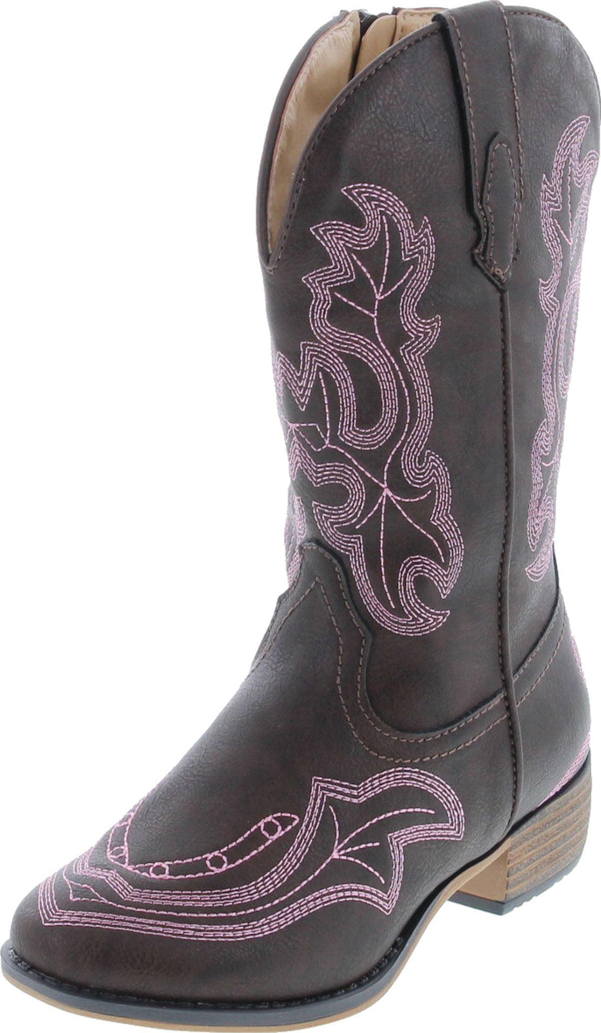 Toddler//Little Kid Leatherette Zebra Glint Print 3 Little Kid M Old West Kids Boots Girls Leatherette Western Boots