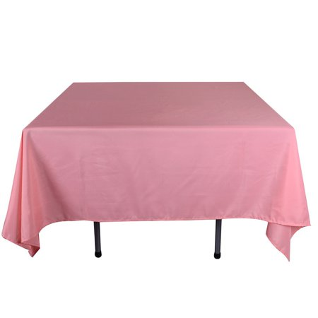 Coral - 52 x 52 Square Tablecloths - ( 52 Inch x 52 Inch )](Coral Table Cloth)