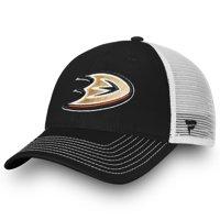 Anaheim Ducks Fanatics Branded Youth Core Trucker - Adjustable Hat - Black/White - OSFA
