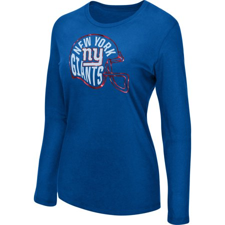 Women's Majestic Royal New York Giants Turn it Loose Long Sleeve T-Shirt