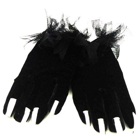 Halloween SPIDER GLOVES Polyester, Spandex & Cotton Metal Finger Nails 68217