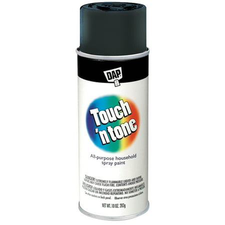 Replacement Point - Gloss Black, DAP Touch n' Tone Spray Paint, 10 oz