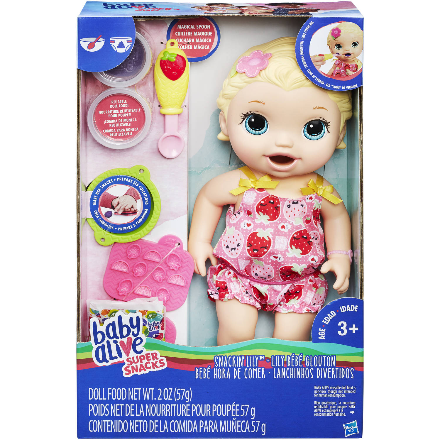 with ... Baby Alive Super Snacks Snackin' Lily Baby Blonde Baby Doll That Eats