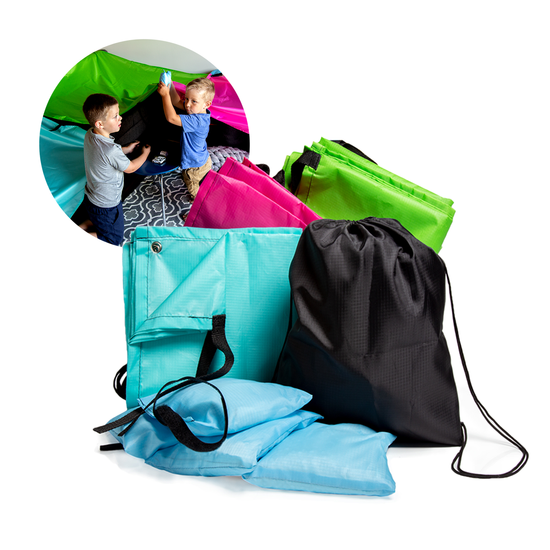 JumpOff Jo Build Me Blanket Fort Kit for Kids, Includes 3 Blankets