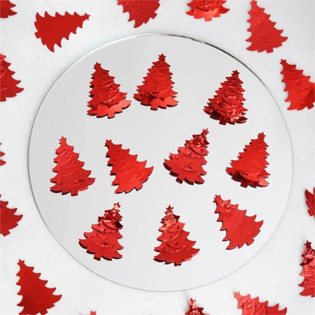 Efavormart Metallic Foil Christmas Tree Confetti-300PCS-Red](Thumbprint Wedding Tree)