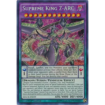 Supreme King Z-ARC - MACR-EN039 - Secret Rare - 1st Edition - Maximum Crisis (1st Edition) (Art Game Cards)
