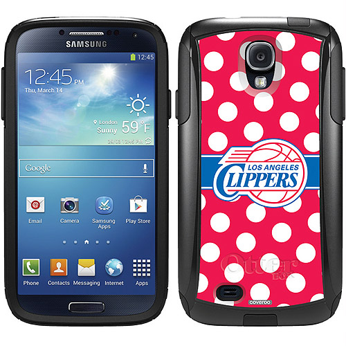 L.A. Clippers Polka Dots 2 Design on OtterBox Commuter Series Case for Samsung Galaxy S4