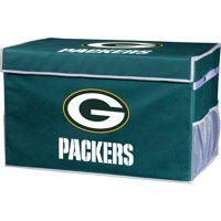Franklin Sports NFL Green Bay Packers Collapsible Storage Footlocker Bins - Small