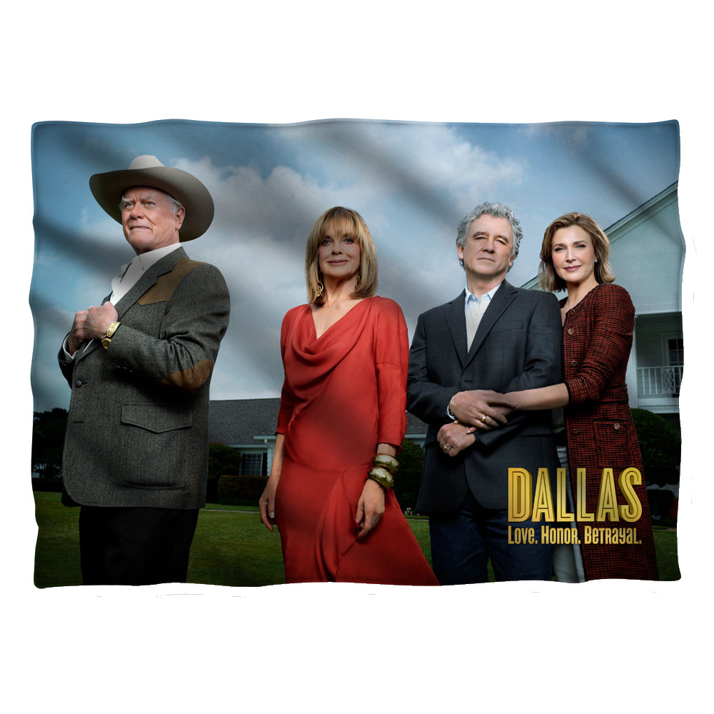 Dallas Cast Pillow Case White One Size