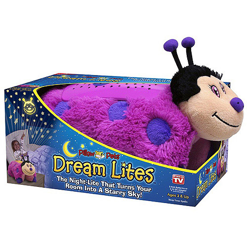 As Seen on TV Pillow Pet Dream Lites, Hot Pink Lady Bug