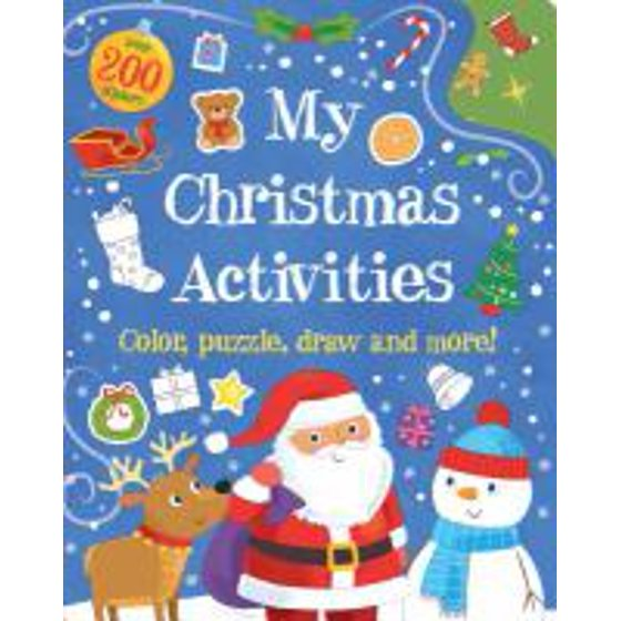 My Christmas Activities Colour Puzzle Draw And More Walmart Com