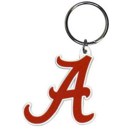 (NCAA Alabama Crimson Tide Flex Laser Cut Rubber Keychain)