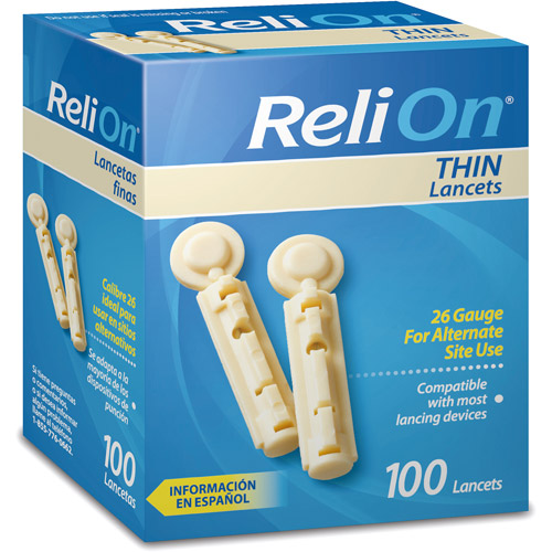 ReliOn Thin Lancets, 100 count