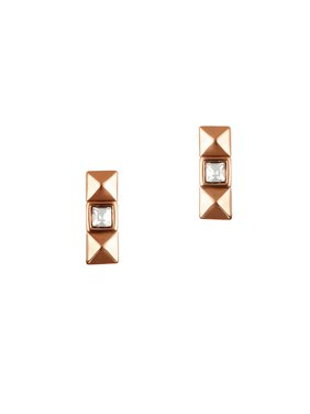 Essentials Pyramid Swarovski Crystals Stud Earrings