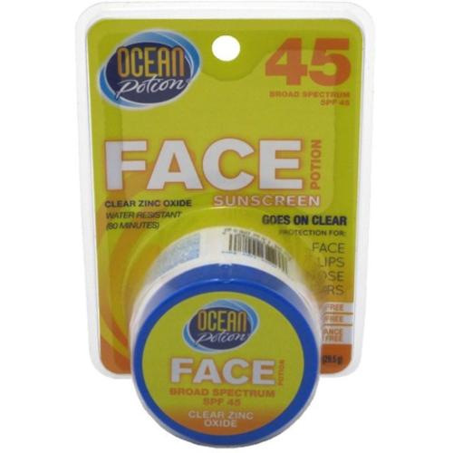 Ocean Potion uncare Face Potion Clear Zinc Oxide, SPF 45 1 oz (Pack of 3)